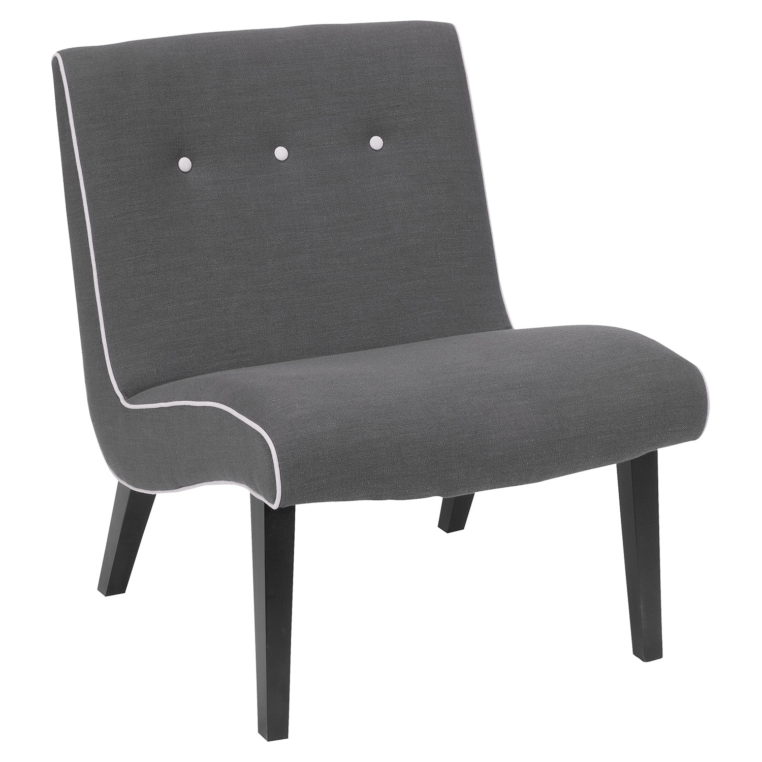 Mancini Lounge Chair - Button Tufted, Light Gray (Set of 2)