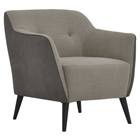 Cortina Club Chair - Button Tufted, Cappuccino