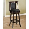 Humility Swivel Bar Stool - Cappuccino Finish (Set of 2)