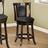 Humility Counter Stool - Cappuccino, Black Leather Look (Set of 2)