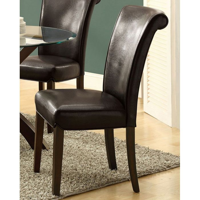 Modesty Rollback Dining Chair - Dark Brown (Set of 2)