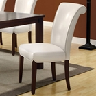 Modesty Rollback Dining Chair - Taupe, Tapered Legs (Set of 2)