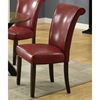 Modesty Rollback Dining Chair - Burgundy, Tapered Legs (Set of 2)