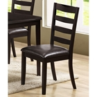 Diligence Ladderback Side Chair - Cappuccino (Set of 2)