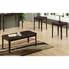 Diligence 3 Piece Occasional Tables Set - Cappuccino