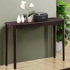 Diligence Contemporary Sofa Table - Cappuccino, Tapered Legs