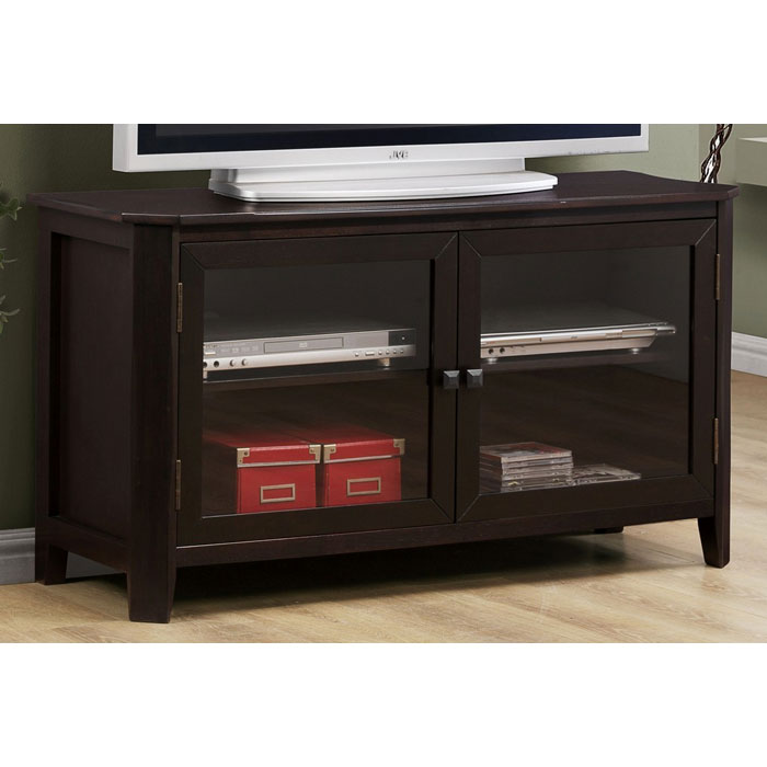 Diligence TV Console - Glass Doors, Adjustable Shelves