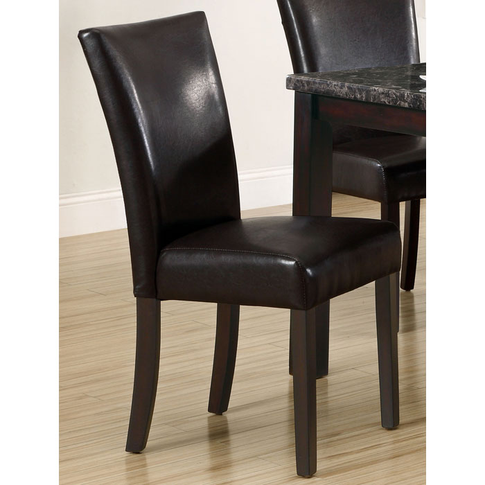 Audacity Dining Chair - Dark Brown Leather Look