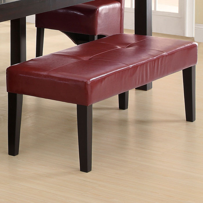Temperance 48'' Bench - Tufted, Burgundy - MNRH-I-1752BY