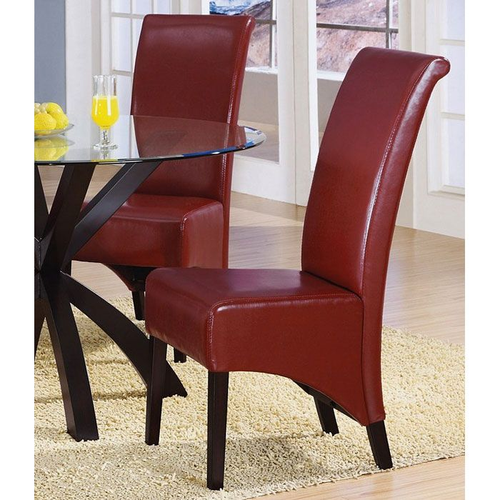 Reverence Rollback Side Chair - Burgundy (Set of 2)