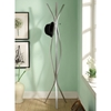 Nostalgia Contemporary Coat Rack - Metal, Silver Finish