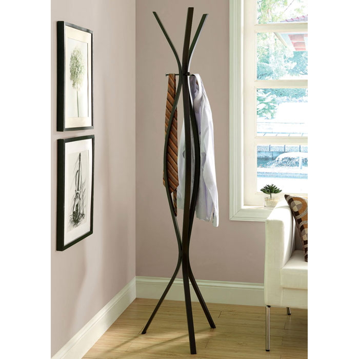 Nostalgia Contemporary Coat Rack - Metal, Cappuccino Finish