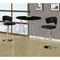 Blithe Round Top Bar Table - Chrome Base, Glossy Black - MNRH-I-2347