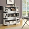 Dulcet Modern 5-Tier Bookcase - White Finish - MNRH-I-2532