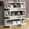 Dulcet Modern 5-Tier Bookcase - White Finish