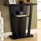 Dulcet Contemporary Console Table - Cappuccino Finish