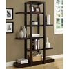 Dulcet Open Style Tall Bookcase - 5 Shelves, Cappuccino