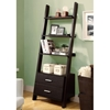 Dulcet Ladder Style Bookcase - 2 Drawers, Cappuccino