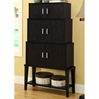Dulcet Storage Cabinet - Bottom Shelf, Cappuccino Finish
