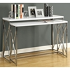 Martell 2 Piece Nesting Console Tables Set - Chrome, White