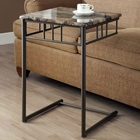 Illusion Snack Table / Laptop Stand - Bronze Finish, Metal