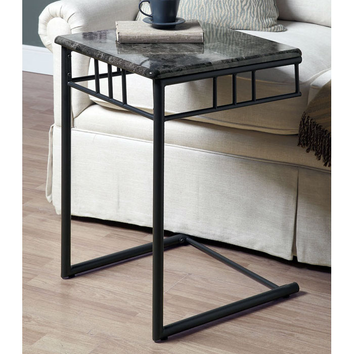 Illusion Snack Table / Laptop Stand - Charcoal Finish, Metal - MNRH-I-3063