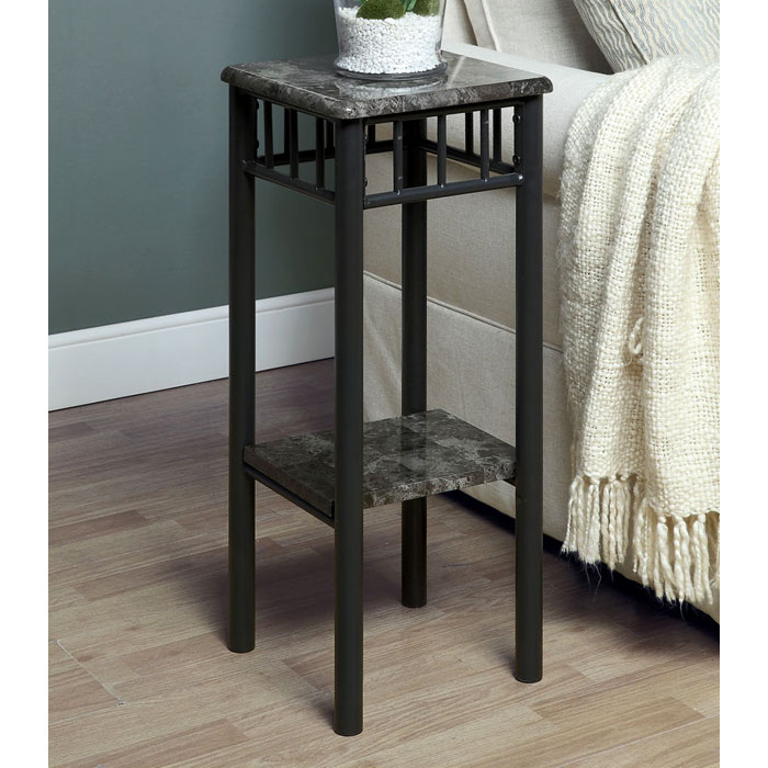 Illusion Plant Stand - Lower Shelf, Charcoal Finish