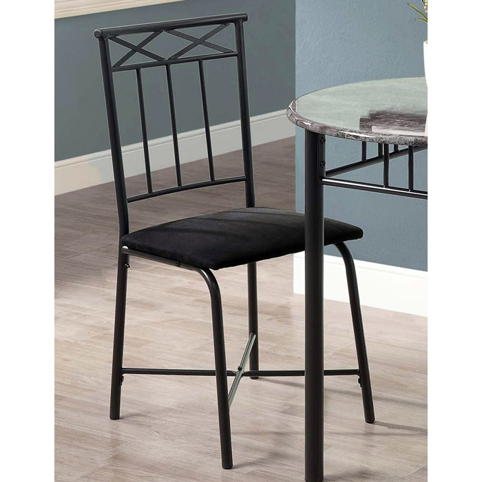 Illusion 3 Piece Bistro Set - Round Top Table, Charcoal Finish - MNRH-I-3065