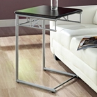 Imagine Snack Table / Laptop Stand - Cappuccino, Silver Metal