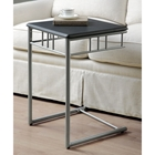 Infinity Snack Table / Laptop Stand - Black, Silver Metal
