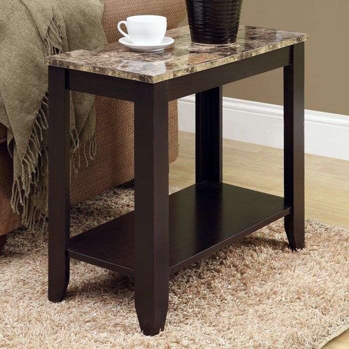 Presto Side Table with Lower Shelf - Cappuccino