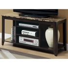 Cooder TV Stand - Open Shelves, Tapered Feet, Cappuccino