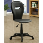 Tolstoy Black Office Chair - Keyhole Back