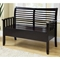 Faraday Wood Storage Bench - Slat Back, Cappuccino Finish - MNRH-I-4507
