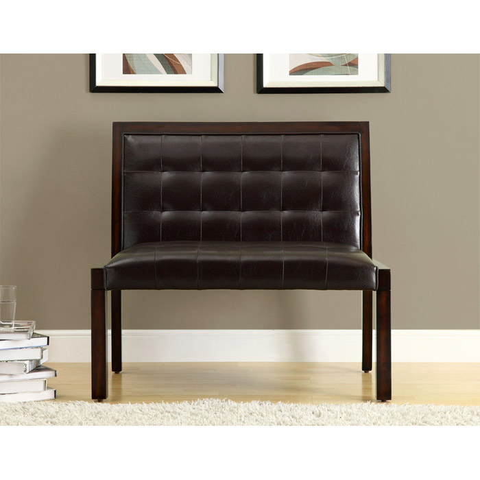 Corliss Bench - Cappuccino, Tufted, Dark Brown Upholstery - MNRH-I-4530