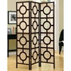 Claiborne Contemporary Folding Screen - Cappuccino Frame