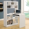 Friedrich Desk with Tall Bookcase - White