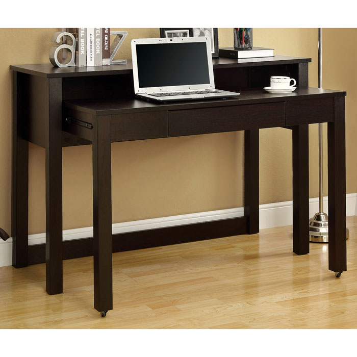 Dwight Contemporary Nesting Desk - Cappuccino Finish