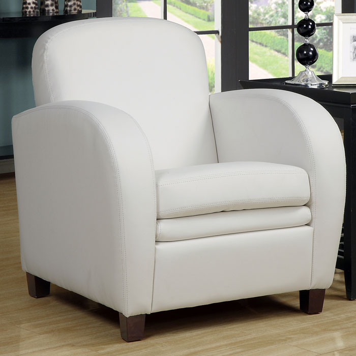 Coolidge Club Chair - Curved Arms, White