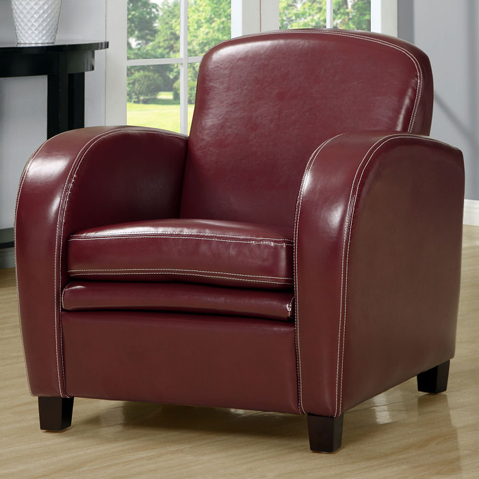Coolidge Club Chair - Curved Arms, Red