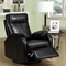 Corleone Rocker Recliner - Swivel, Pillow Top Arms, Black - MNRH-I-8081BK