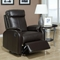 Corleone Rocker Recliner - Pillow Top Arms, Dark Brown - MNRH-I-8081BR