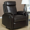 Corleone Rocker Recliner - Pillow Top Arms, Dark Brown