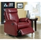 Corleone Rocker Recliner - Swivel, Pillow Top Arms, Red - MNRH-I-8081RD