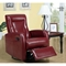 Clemenza Leather Rocker Recliner - Track Arms, Red - MNRH-I-8082RD