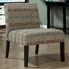 Pigafetta Accent Chair - Circular & Square Patterned Fabric