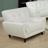 Eugene Armchair - Tufted Backrest, White Leather