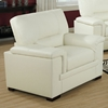 Artaud Leather Chair - Pillow Top Arms, Ivory