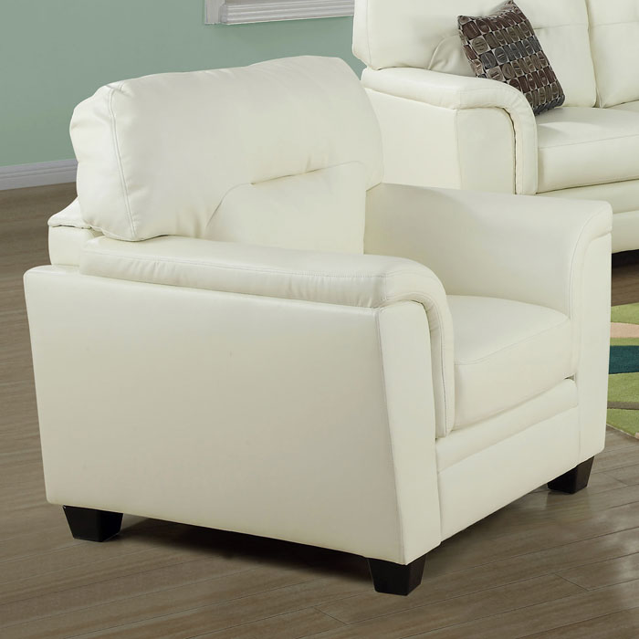 Isadora Leather Chair - Padded Arms, Ivory - MNRH-I-8961IV