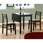 Compassion 3 Piece Dinette Set - Drop Leaf Top, Cappuccino